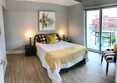 Bedroom in Venue Tower in Grand Rapids Michigan