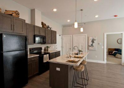 Apartment Kitchen in Gateway at Belknap in Grand Rapids