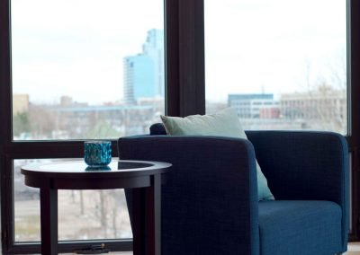 Grand Rapids city Skyline in Homes at River's Edge